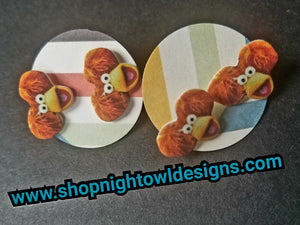 Red Fraggle post Earrings