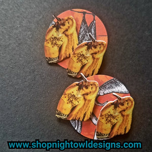 Hedwig- singing post Earrings