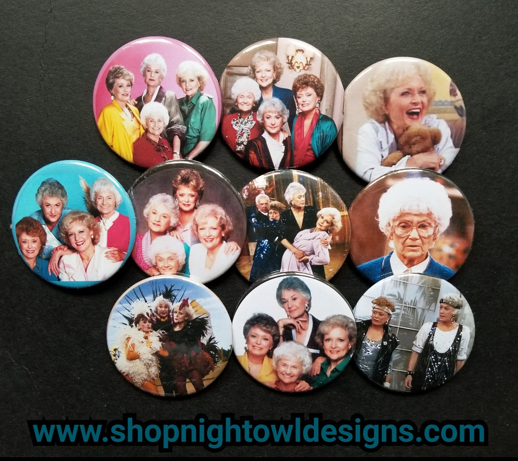 Golden Girls cast pin back buttons part 2