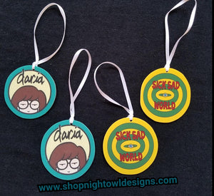 Daria and Sick Sad World Ornaments
