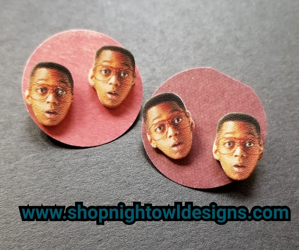 Urkel Post Earrings