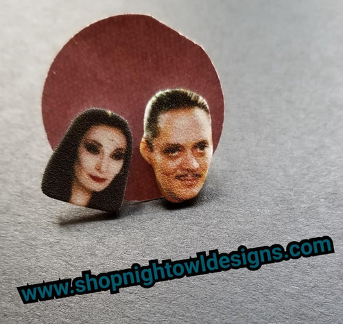 Addams Family (90s)  Post Earrings