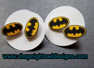 Batman Post Earrings