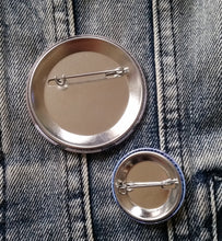 Shining pin back buttons