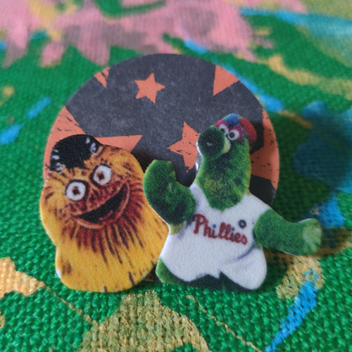 Gritty and the Phanatic Post Earrings
