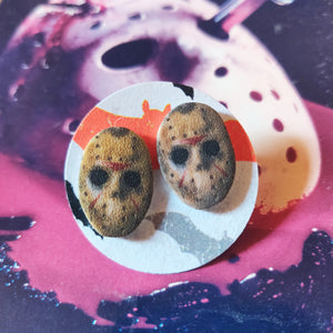 Jason Voorhees Post Earrings