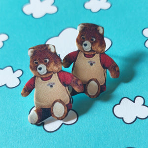Teddy Ruxpin Post Earrings
