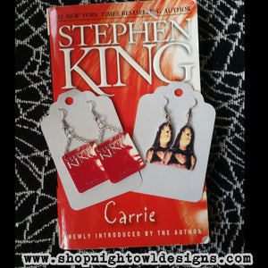 Carrie book Earrings