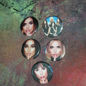 Pretty Little Liars cast pin back buttons