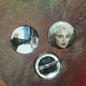 Who's That Girl? pin back button