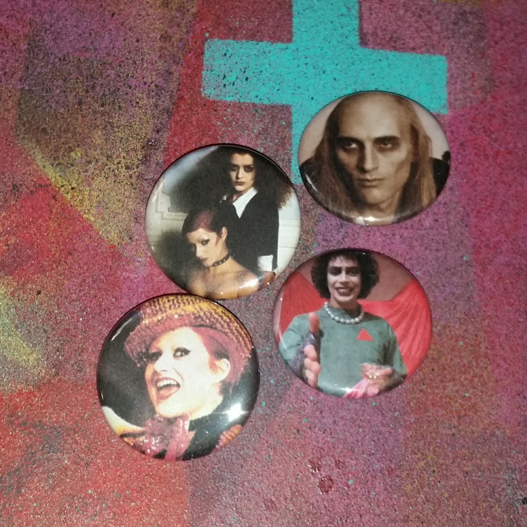 Rocky Horror Picture Show pin back button