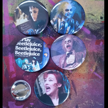 Beetlejuice pin back button