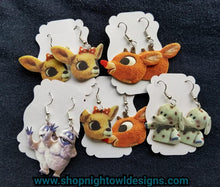 Rudolph and Clarice Earrings