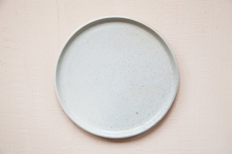 Large Plate / White Shino - SECONDS SALE