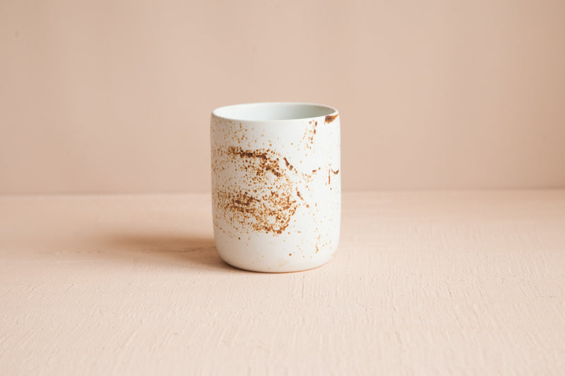 Simple Tumbler / Speckled White - SECONDS SALE