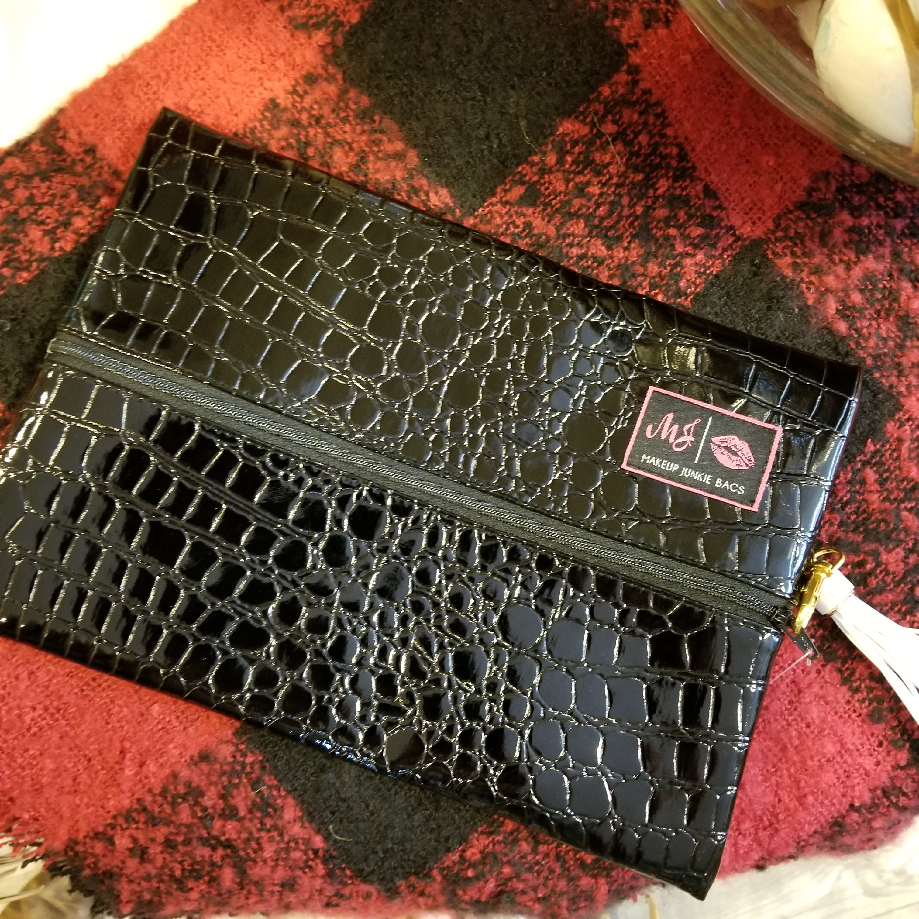 Midnight Gator by Makeup Junkie Bags