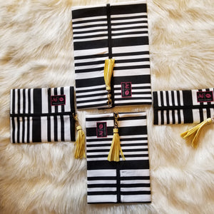 Asymetrical Stripe by Makeup Junkie Bags
