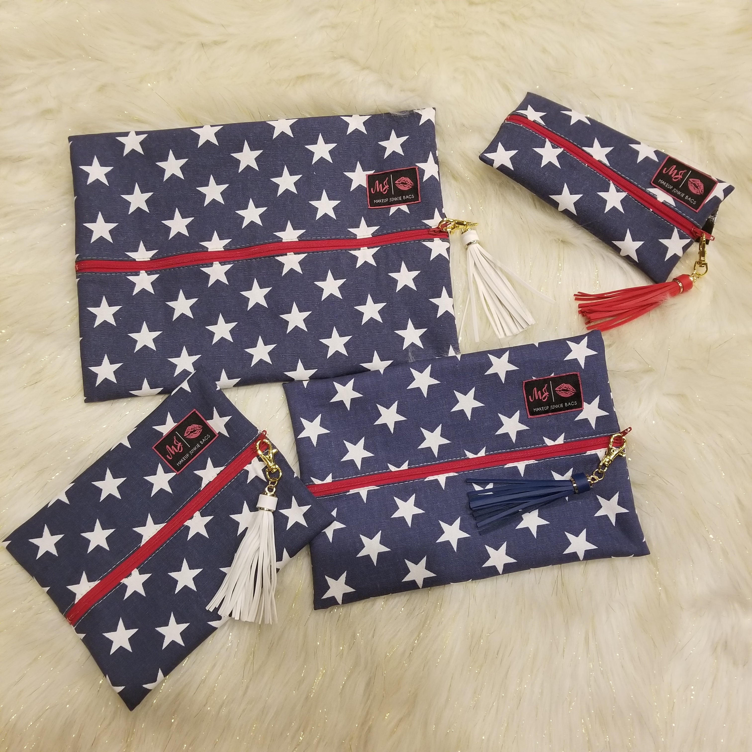Red, White and Beautiful by Makeup Junkie Bags