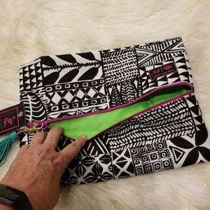 Bohemian (Lime) by Makeup Junkie Bags
