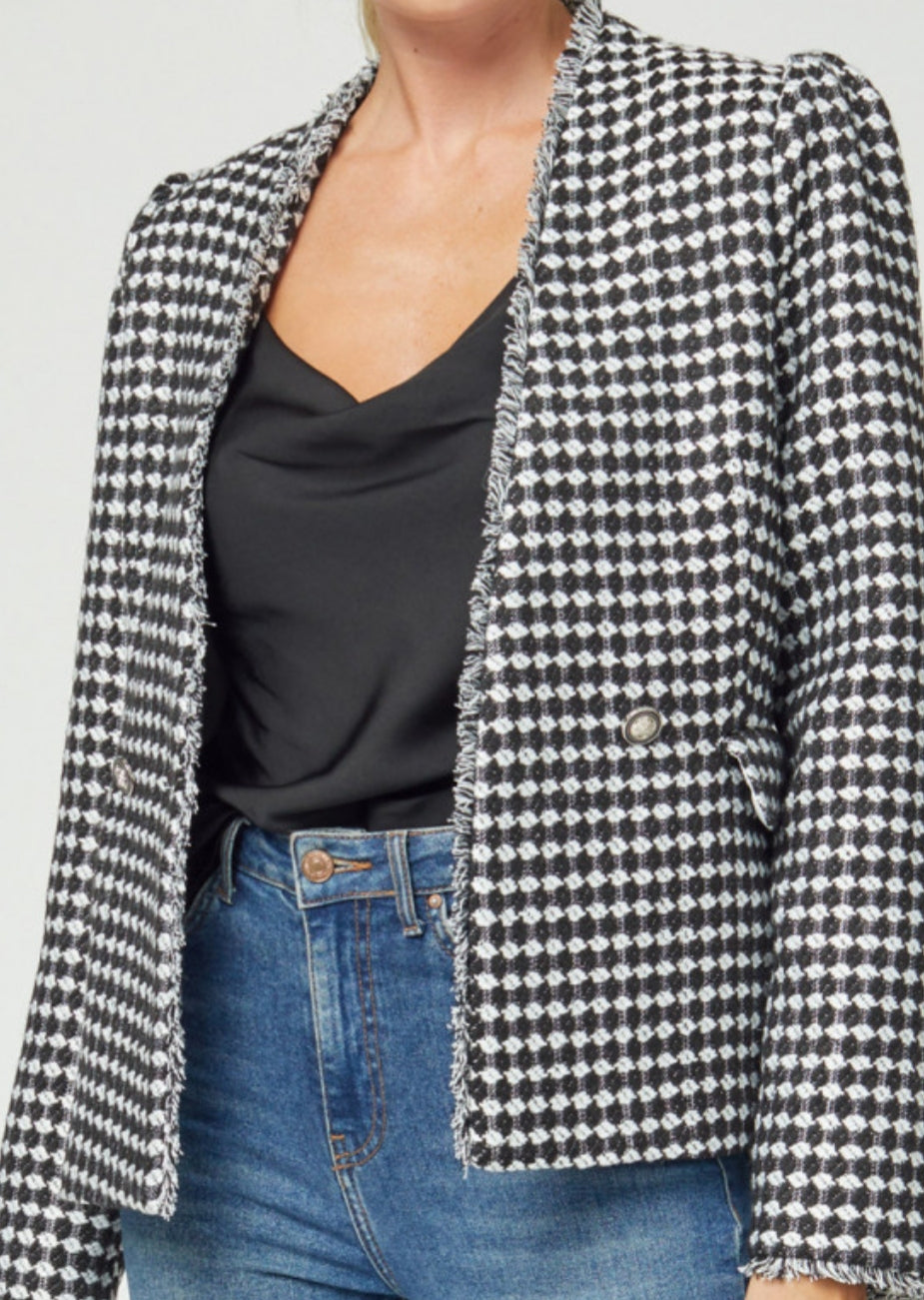 Black Houndstooth Jacket