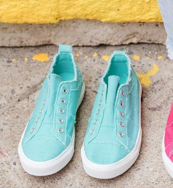 Corkys Babalu Aqua Canvas Sneakers