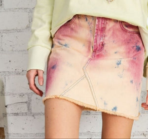 Tie Dye Denim Skirt