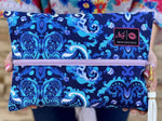 Blue Bayou (Lilac Zipper)by Makeup Junkie Bags
