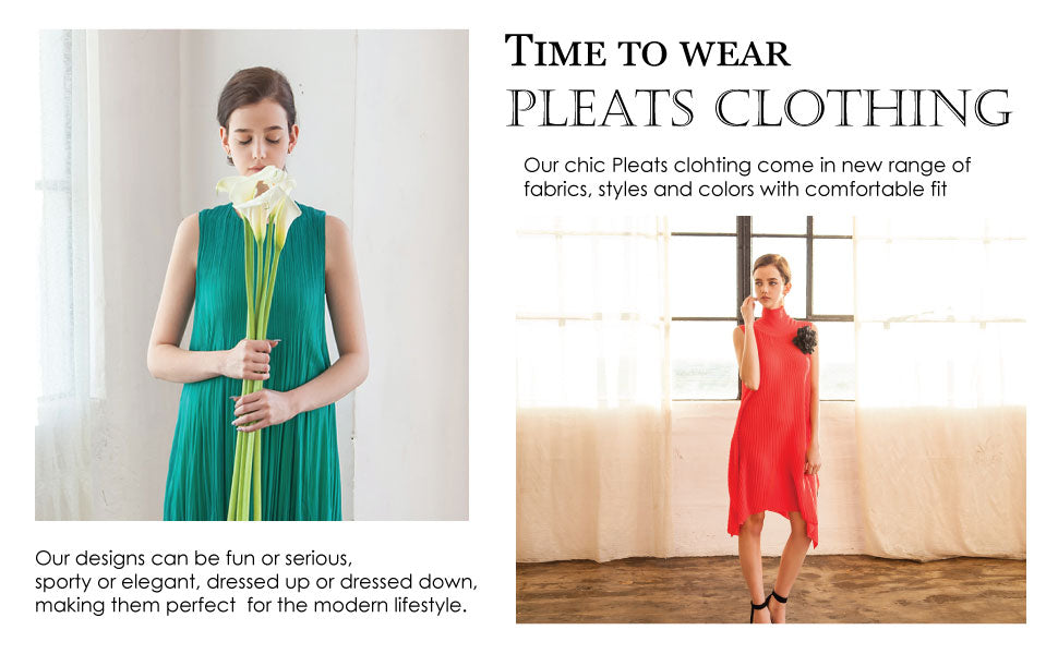 It's time for pleats clothing