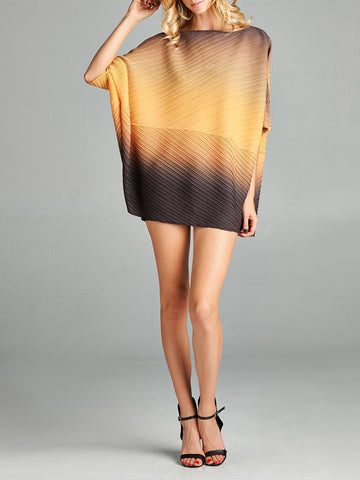 Pleated Orange Paki Top 20050