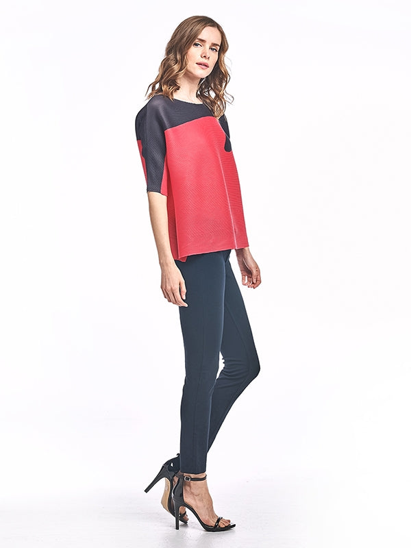 Pleated Nanna top red 60724