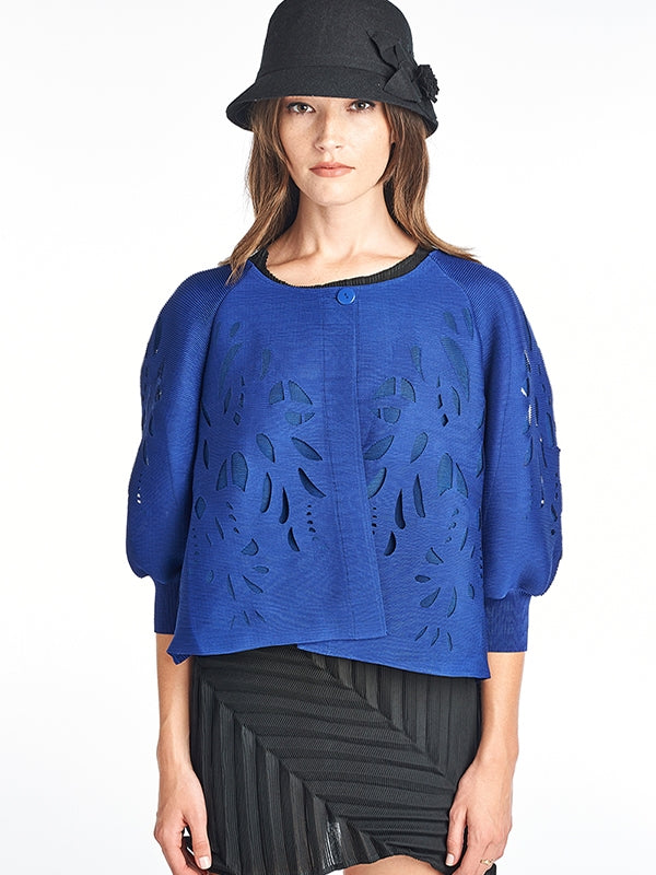 Pleated Blue Heidi  Jacket  9766