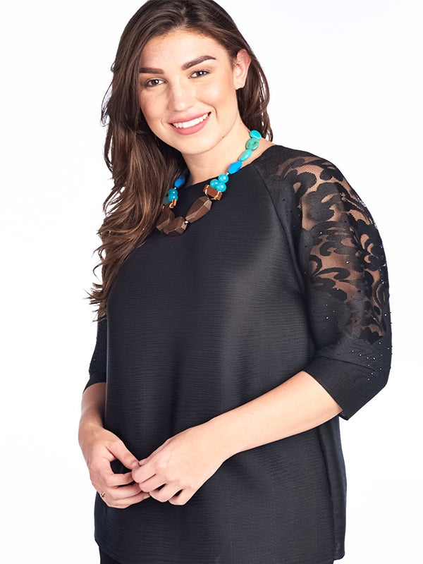 Pleated Isabella  Top black 60585