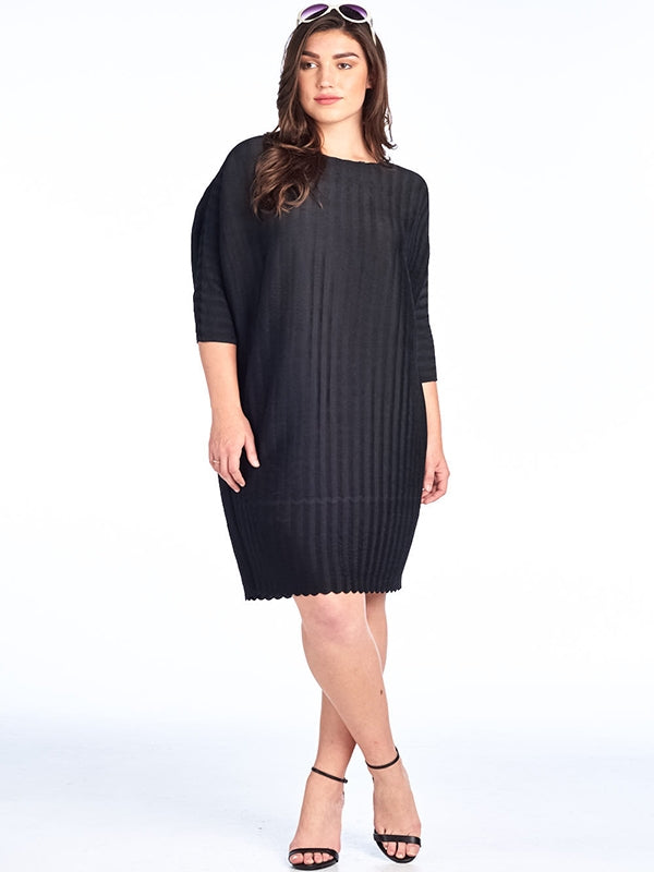 Pleated Carra Pleated dress black 87356