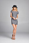 Pleated Grey Fedil Mini Dress 2862