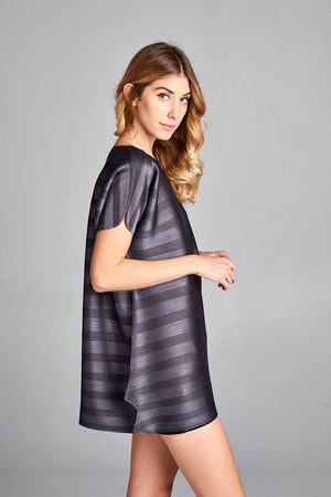 Pleated  Grey Dziko  Top 4050