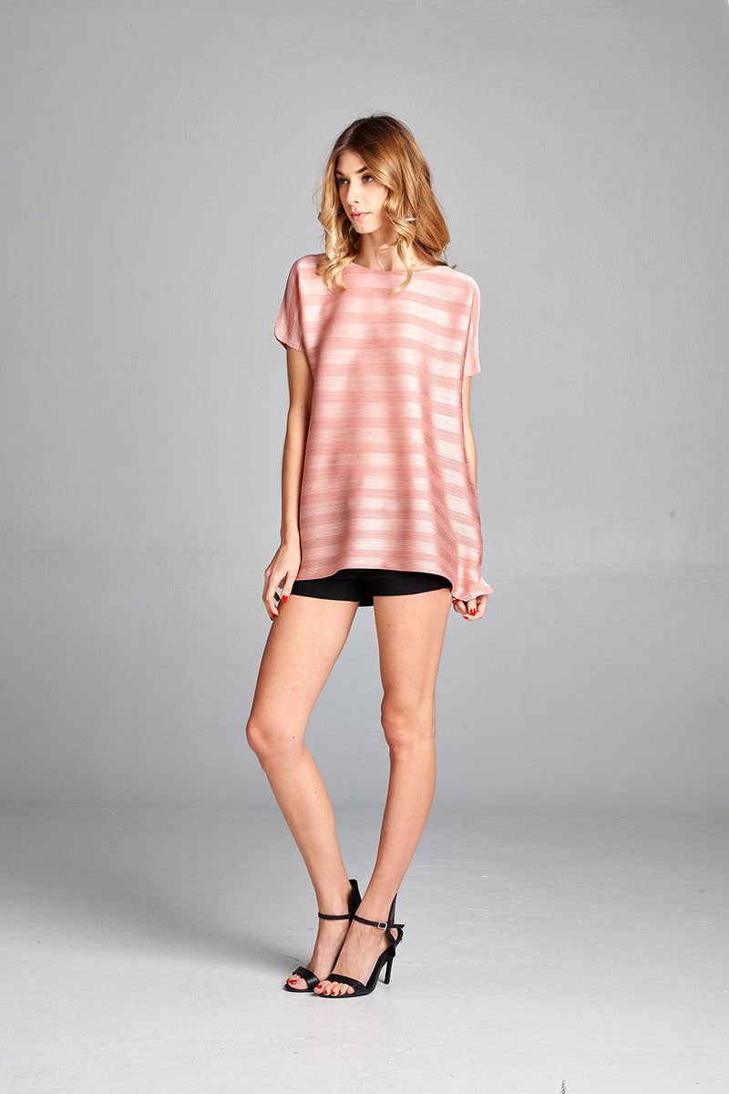 Pleated Pink  Dziko Top 4050
