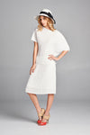 pleated White snow pleated Mid skirt 5780