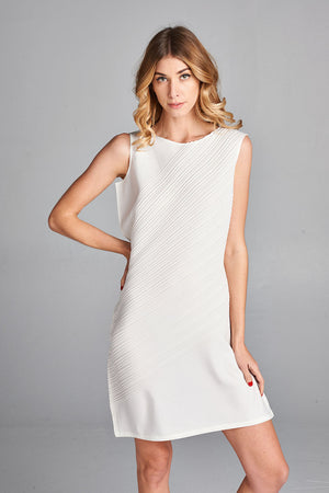 Pleated  White Snow Dress 5700