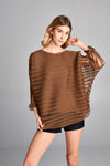 Pleated Brown Kesi  Layered Top 81161