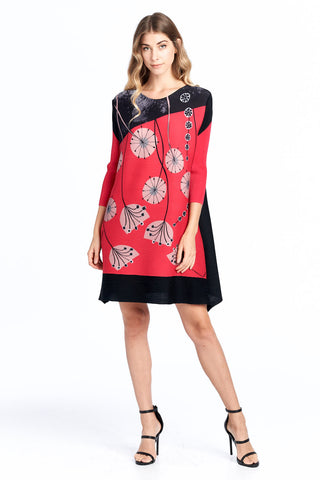 Pleated Badia Dress Multi 9954