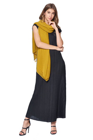 Pleated Scarf 12119 Black