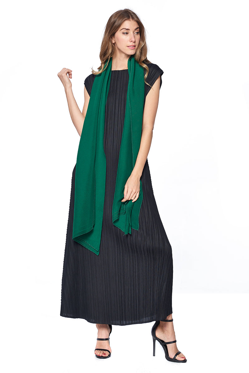 Pleated Scarf 12121 Green