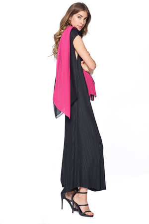 Pleated Scarf 12122 Pink