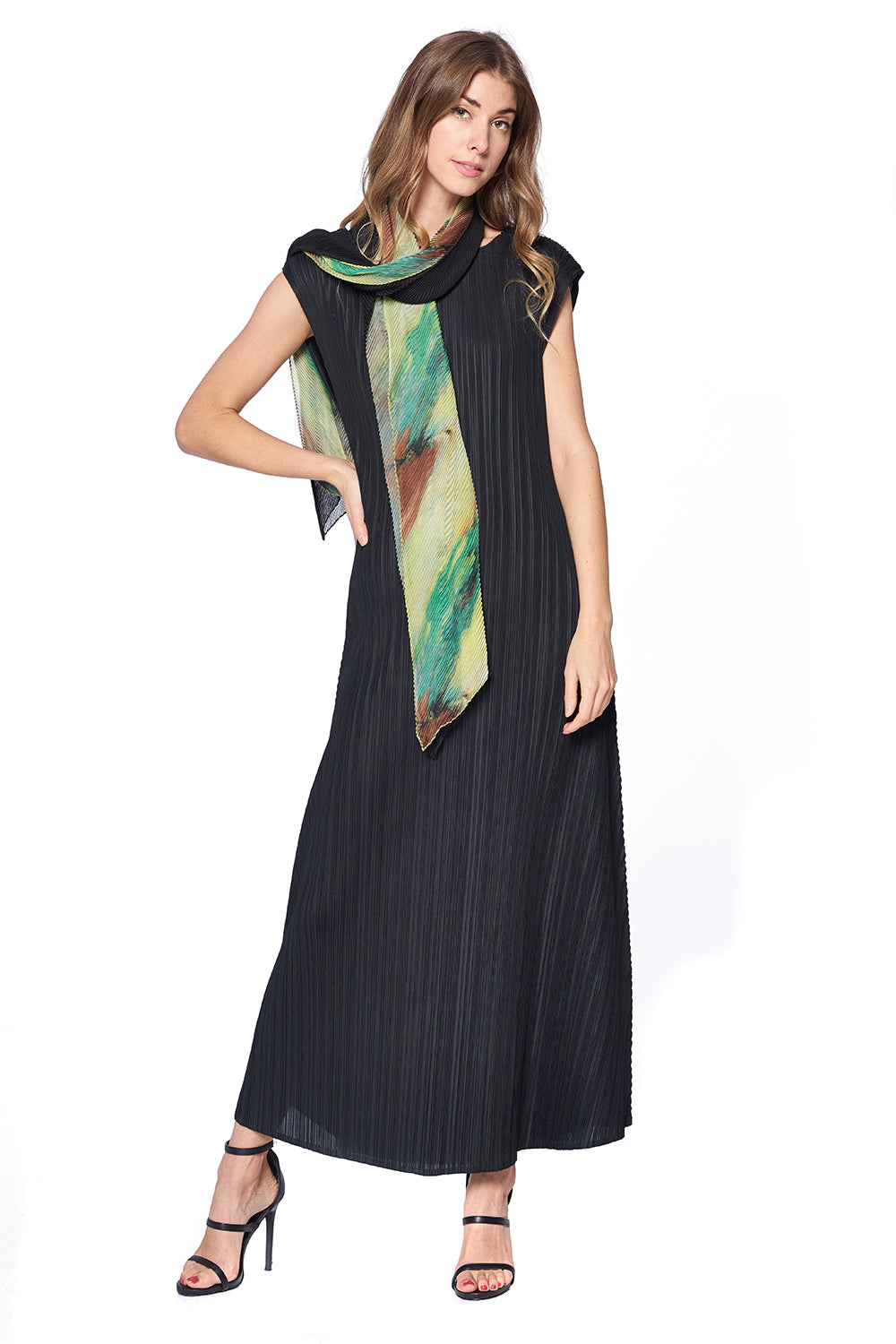 Pleated Scarf  12124 Multi
