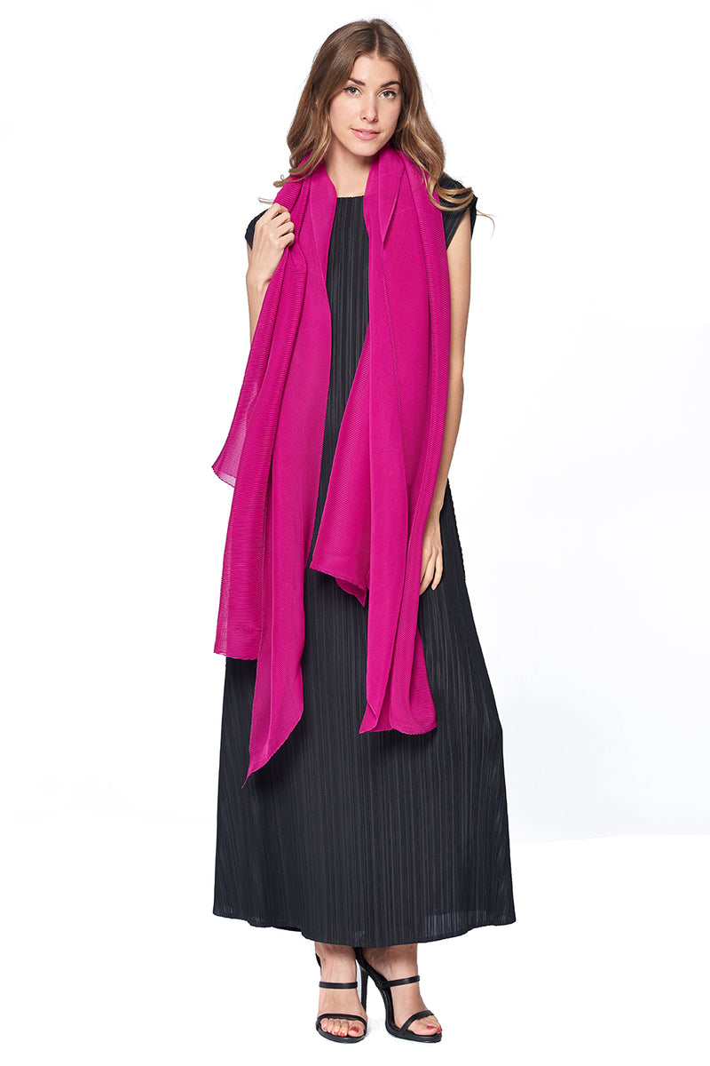 Pleated Scarf 12125 Pink