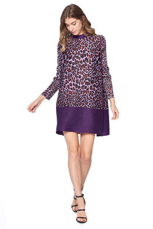 Pleated Firdus Dress Purple 61058
