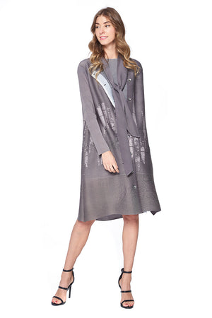 Pleated Seneca Jacket Grey 14754-1