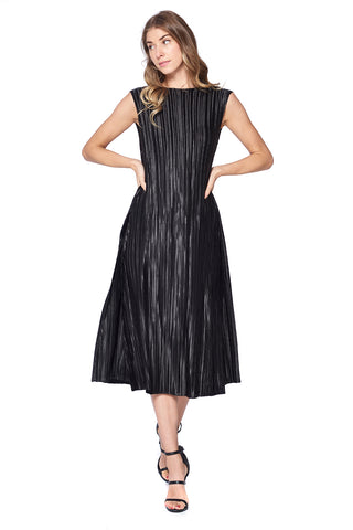 Pleated Lulu Blossom Dress Black 16588-1
