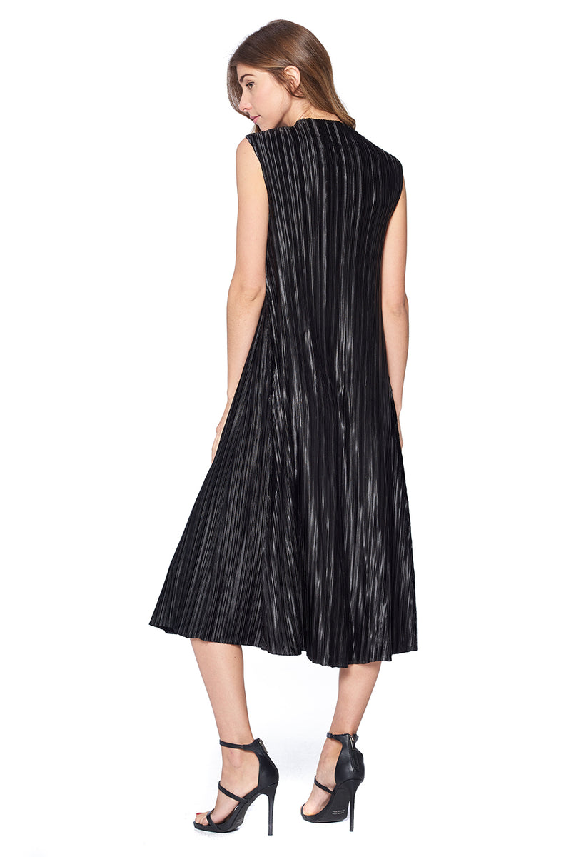 Pleated Hibah Dress Black 87326