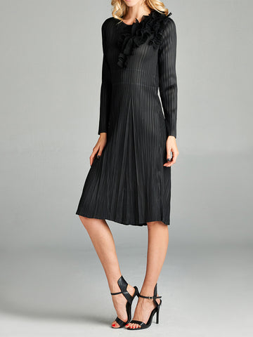 Pleated Durdaana Dress Black 87379